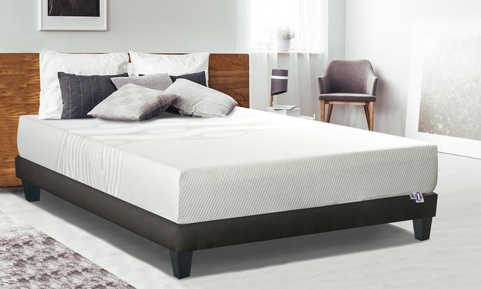 jusqu 39 85 matelas gel frais m moire forme groupon. Black Bedroom Furniture Sets. Home Design Ideas