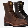 Bonanza Men's Genuine Leather Logger Work Boots