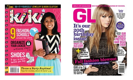 Subscription to Girls' Life or Kiki Magazine from $7–$14