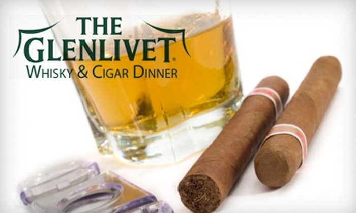 Glenlivet Whisky & Cigar Dinner - Excelsior: $22 for One Ticket to the Glenlivet Whisky & Cigar Dinner at the BayView Event Center in Excelsior on January 15 ($45 Value)