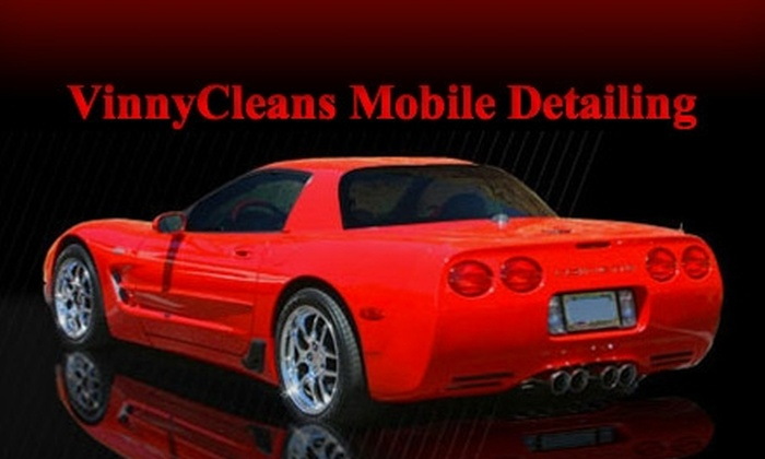 VinnyCleans Mobile Detailing Service - Philadelphia: Up to 53% Off Automotive-Detail Package from VinnyCleans Mobile Detailing Service. Choose from Two Vehicle Sizes.