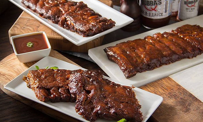Bubba's Q - Bay Village: BBQ Meal with Ribs, Chicken, and Brisket for Two or Four at Bubba's Q (Up to 38% Off)