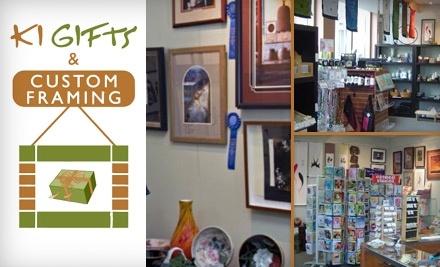 $100 Groupon to Ki Gifts And Custom Framing - Ki Gifts And Custom Framing in Sacramento