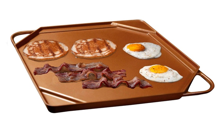 Up To 45 Off On Copper Griddle And Grill Pan Groupon Goods