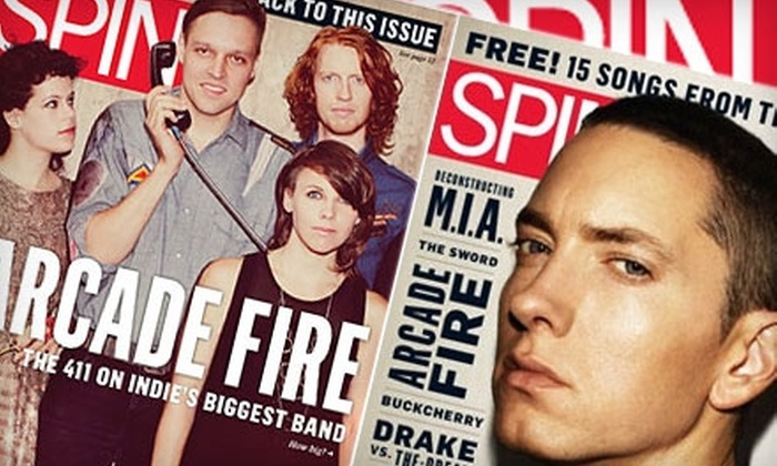 """SPIN Magazine - Chicago: $5 for a One-Year Subscription to """"Spin"""" Magazine ($9.95 Value)"""