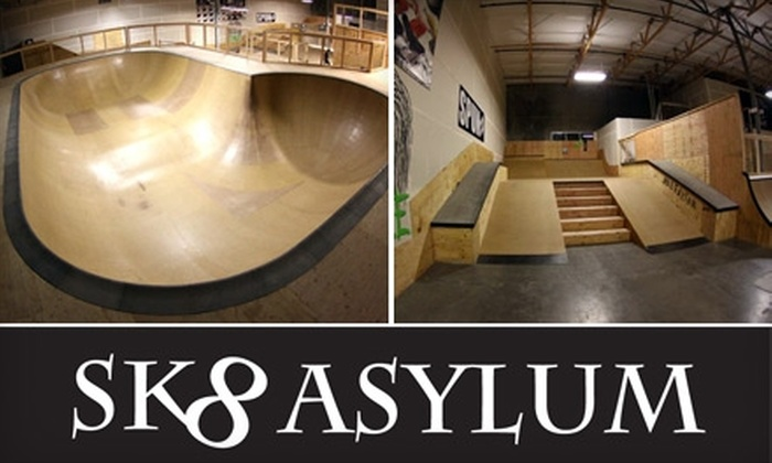 SK8 ASYLUM - Mesa: $12 for Two Three-Hour Open-Skate Sessions with Helmet Rental at SK8 ASYLUM