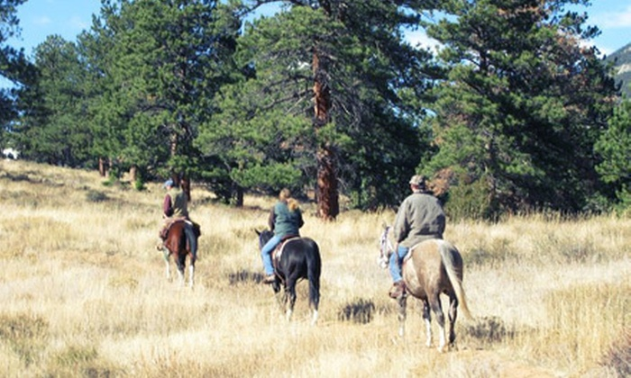 Estes Park Horseback - Estes Park: Overnight Horseback-Riding Adventure for Two at Estes Park Horseback (Up to 51% Off). Three Lodging Options Available.