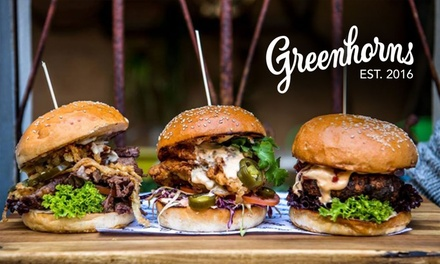 Burger with Fries and Choice of Drink for One $19, Two $38 or Four People $76 at Greenhorns Up to $132 Value