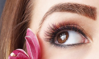 image for Eyelash Extension with Option for Eyebrow Threading and Tinting at The i-Bar (60% Off)