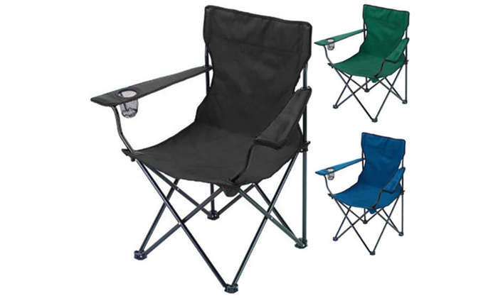Pleasing Two Folding Camping Chairs Groupon Goods Pabps2019 Chair Design Images Pabps2019Com