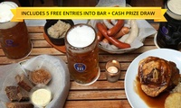 $24.99 Das Hund Haus 2-for-1 Meal Voucher with 5 Free Prize Draw Entries to Win the Das Hund Haus Bar Plus $30,000 Cash
