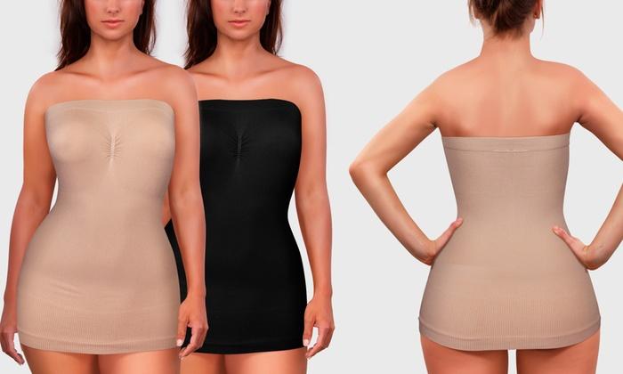 Women's Full-Body Shaper Tube Dress (2-Pack)