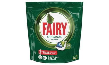 1, 2, 3 ou 4 lots de 84 tablettes vaisselle Fairy Original All In One