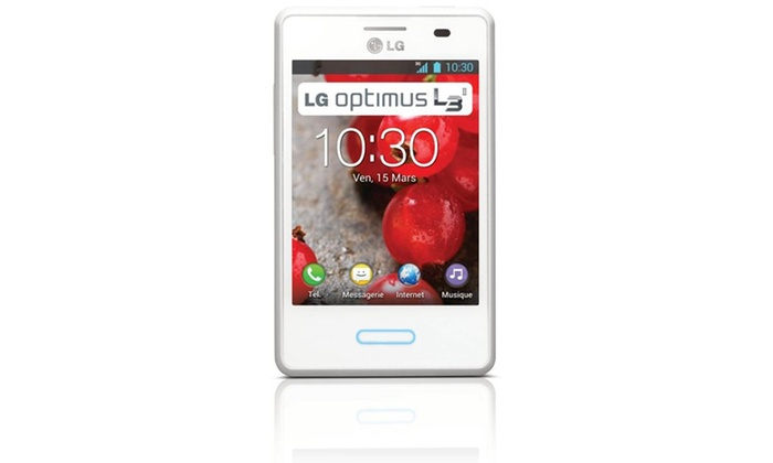 t l phone portable lg optimus l3 ii reconditionn groupon shopping. Black Bedroom Furniture Sets. Home Design Ideas