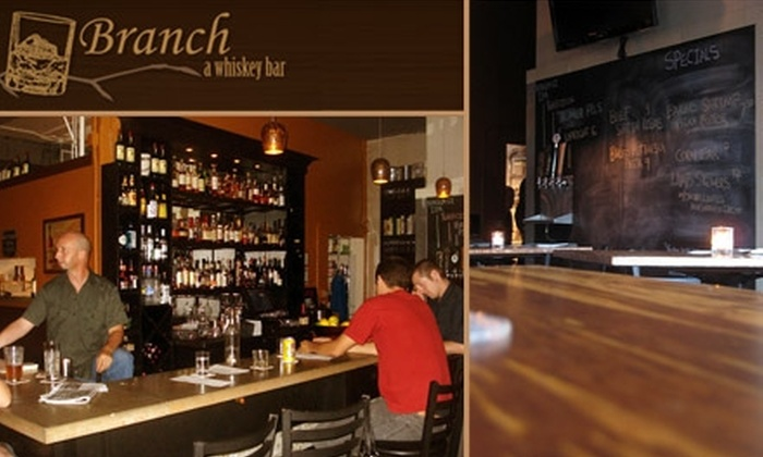 Branch Whiskey Bar - Concordia: $12 for $25 Worth of Drinks and European-Influenced Comfort Food at Branch Whiskey Bar