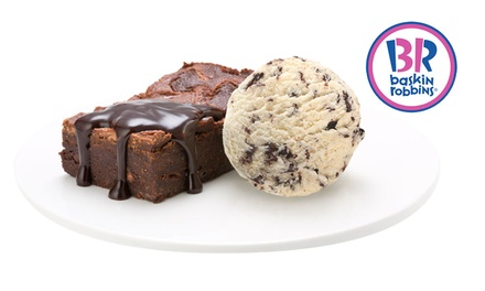 Dessert with Scoop of IceCream for One $5.50 or Two People $11 at Baskin Robbins Malvern Up to $22 Value