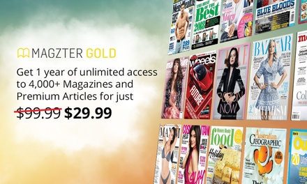 12 Months of Unlimited Online Magazines .99 from Magzter Don't pay $99.99