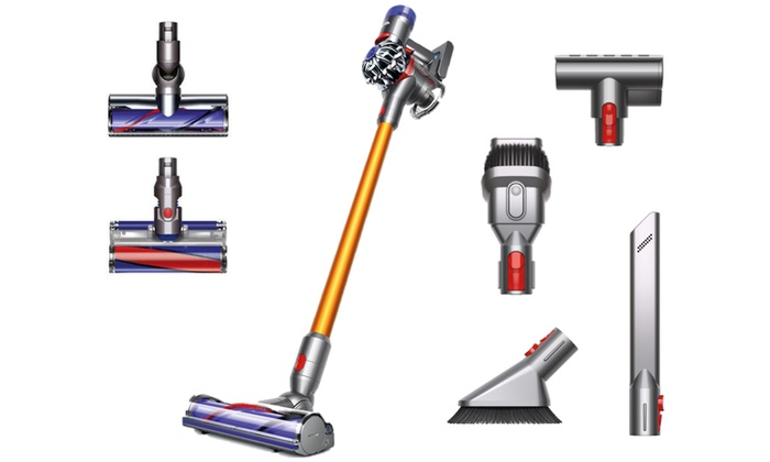 up to 50 off on dyson v8 absolute stick vacuum groupon goods. Black Bedroom Furniture Sets. Home Design Ideas