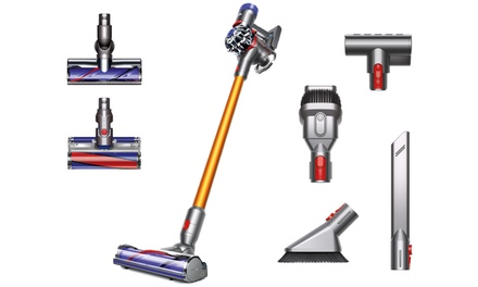 up to 47 off on dyson v8 absolute stick vacuum groupon goods. Black Bedroom Furniture Sets. Home Design Ideas