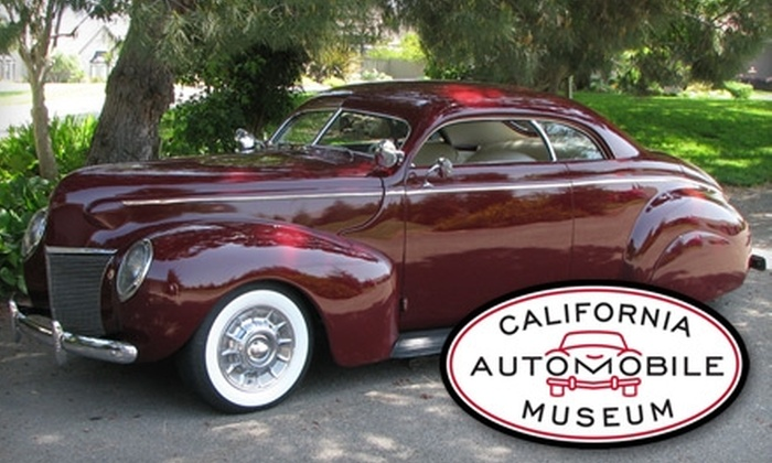 California Automobile Museum - Central Sacramento: $4 for an Adult Admission to California Automobile Museum ($8 Value)
