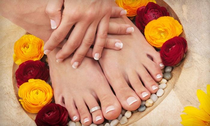 Karina's Nails - Walnut Grove - Shelby Farms PD: Lemon-Drop Jelly Pedicure or Paraffin-Wax Mani-Pedi at Karina's Nails (Up to 53% Off)