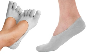 Women's Therapeutic Invisible Gel Heel & Toe Socks (1, 3, or 5 Pairs)