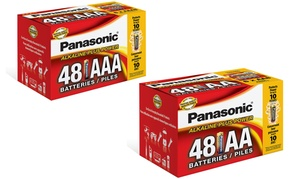 Panasonic Alkaline Plus Power AA or AAA Batteries (48-Pack)