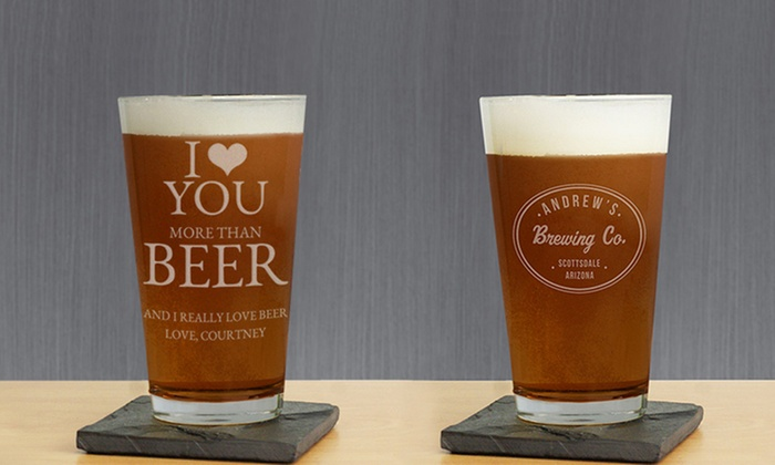 GiftsForYouNow.com: Personalized Beer Glasses from GiftsForYouNow.com