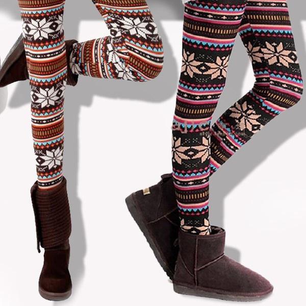 1d59248f9ea466 Nordic Print Fleece Lined Leggings (Up to 64% Off)
