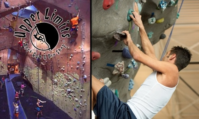 Upper Limits Rock Gym - Downtown St. Louis: $25 for Five Punch Climbing Pass & Class or $45 for 10 Punch Climbing Pass and Class from Upper Limits Rock Gym (Up to $140 Value)