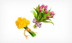 Campos Floristas: Bouquet o ramo de 6 o 12 rosas u otras flores variadas 11,90 € en dos floristerías a elegir