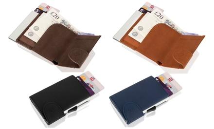 Woodland RFID Flip-Up Aluminium or Leather Wallet
