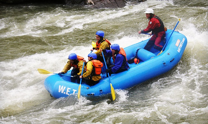 W.E.T. River Trips - San Jose: One Day Rafting Adventure from W.E.T. River Trips in Lotus (Half Off). Two Options Available.