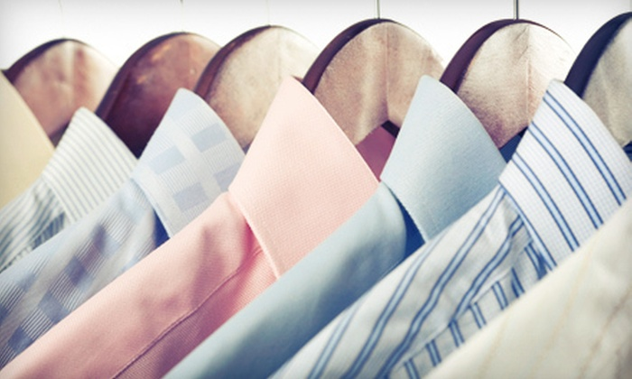 Village Square Cleaners - Multiple Locations: $15 for $30 Worth of Laundry Services or $17 for a Cleaning Package for Two Suits and Two Shirts at Village Square Cleaners