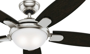 """Hunter 54"""" Fan with LED Light and Remote (Certified Refurbished)"""