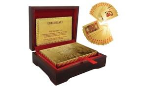 Coffret de luxe 54 cartes dorées