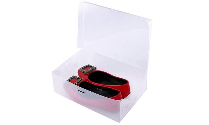 Set de cajas para calzado groupon - Cajas transparentes para zapatos ...