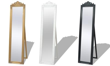 Espejos de pie estilo barroco groupon for Espejo de pie plateado