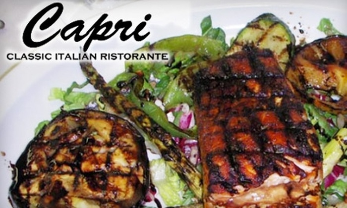 Capri Classic Italian Ristorante - Multiple Locations: $20 for $40 Worth of Fine Dining and Drinks at Capri Classic Italian Ristorante