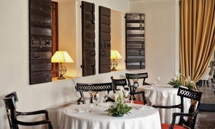 Menu gourmet à la carte di quattro portate di mare o di terra in storica villa del '700 da Ristorante Villa Palma