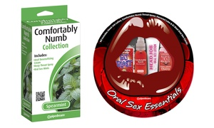 Comfortably Numb Oral and Anal Sex Essentials Kits