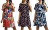 Floral, Leaf or Exotic Print Summer Shift Dress