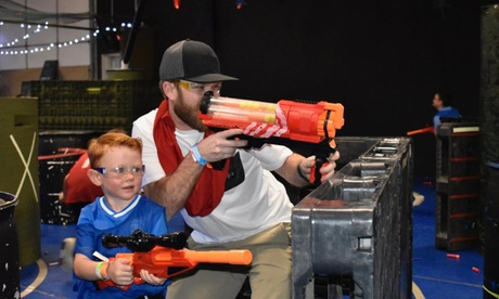 One-Hour Open Play Pass for Two, Three, Four, or Five at Battlefield-Nerf Gun Wars (Up to 50% Off)