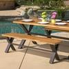 Laurel Outdoor Solid Wood Picnic Dining Set (3-Piece)