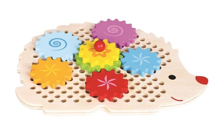 Lelin Wooden Hedgehog Gear Wheel Toy