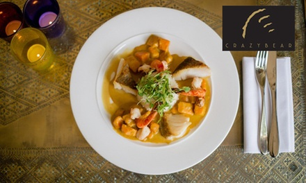English or Thai Signature Menu with Premium Champagne at The Crazy Bear from £29.50(Up to 66% Off)