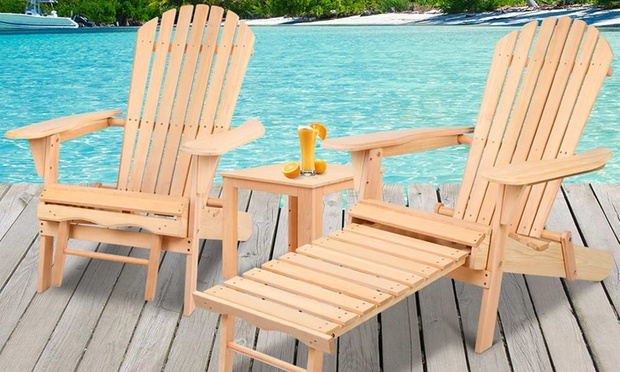 Adirondack style outdoor furniture groupon for Outdoor furniture groupon