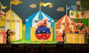 "Peppa Pig: Peppa Pig Live! ""Peppa Pig's Big Splash"" on Saturday, October 15, at 5 p.m."