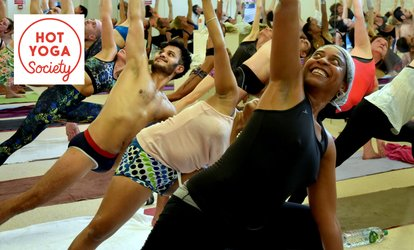 image for Ten Sessions of Hot Yoga at Hot Yoga Society (Up to 75% Off)
