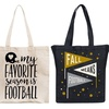 Canvas Tailgating Tote Bags